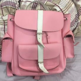 Grafea Backpack (Leather, pink, medium size)