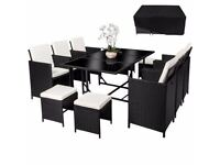 **FREE UK DELIVERY AND FREE COVER** Luxury Rattan Garden Conservatory Furniture Set - BRAND NEW!