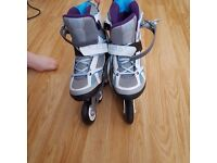 like new inline skates. hardly been used. ladies size uk 8