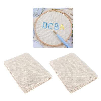 2 Pcs Cotton Monk's Cloth Classic Reserve Aida Cloth Embroidery Sewing