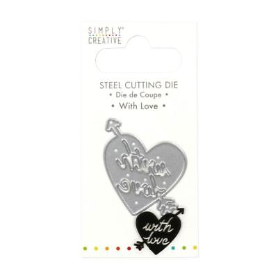Trimcraft Simply Creative Mini Metal Paper Card Craft Die Set - With Love