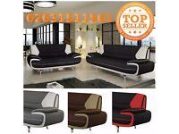 carol sofa faux leather sofa 3+2 seater red black white cream brown grey settee