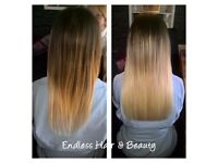 Mobile hairdresser specialising in hair extensions, extensively qualified and fully insured.