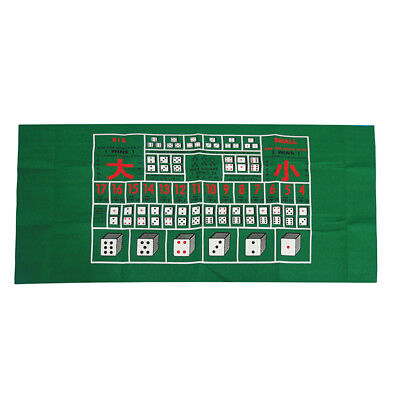 Casino Table Cloth (Table Layout Cover Poker Table Cloth Casino Felt Layout Poker Dice Game New)