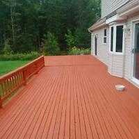Deck building- repair and staining