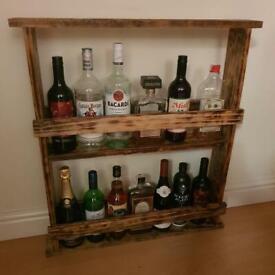 Handmade alcohol bottle rack stand (bottles not included)
