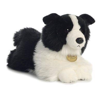 Miyoni Realistic 12 inch Border Collie Laying Puppy Dog Soft Cuddly AKC AU26271