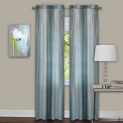 Luxurious Sombre 2 panels window curtain  dip dye trends Mist - Silver / Green (Dip Dye Trend)