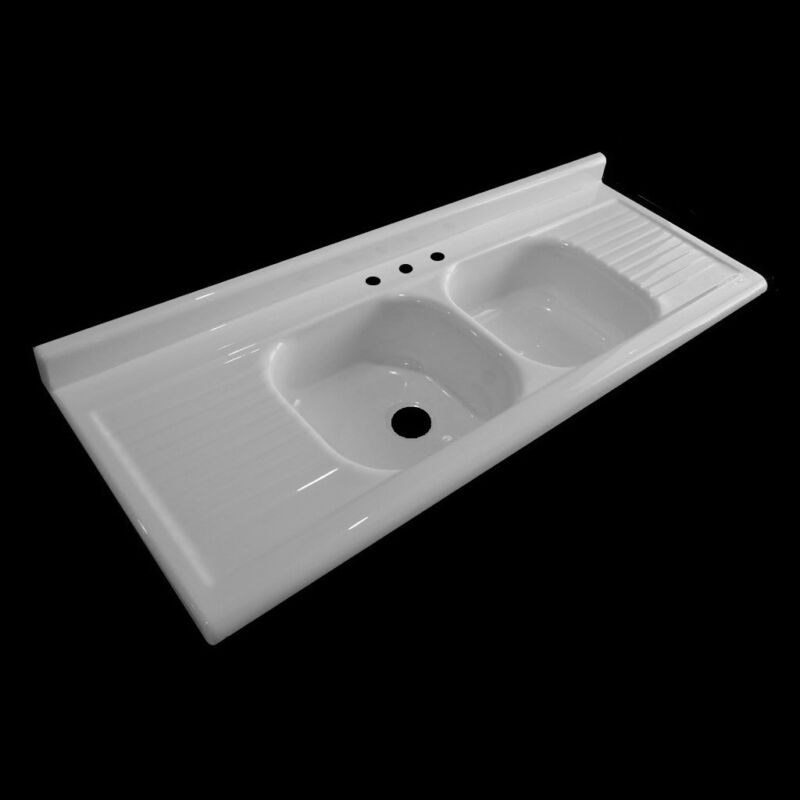 Reproduction Double Drainboard Sink - Model #6625