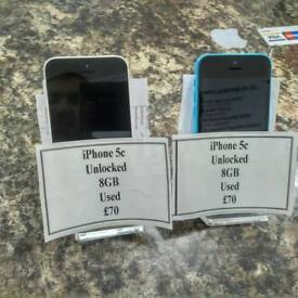 IPhone 5c Unlocked 16GB choice of two