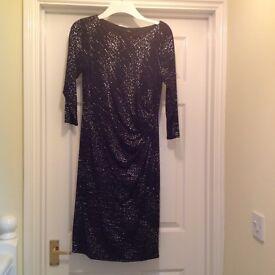 Black Sequin Dress Size 14