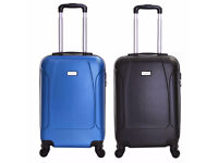 4 wheels Black and Blue Suitcase Cabin Luggage brand new