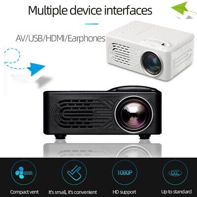 HDMI Mini LED Projector Full HD 1080P Video Movie Portable Home Theater Cinema
