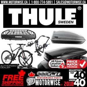 Thule Bike Rack, Roof Racks, Carriers and Sport Products | Free Shipping Canada Wide only at www.motorwise.ca