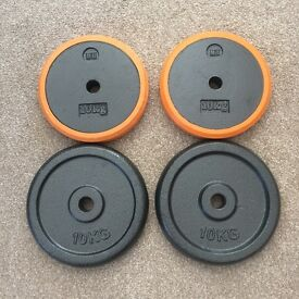 10kg Cast Iron Weight Plates x 4