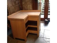 Canella solid beech kitchen corner unit from Habitat in beautiful condition. 100cmx100cmx96cmx90cm