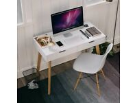 Computer Desk Study Writing Table with Drawers Laptop Desk Dressing Table 100x50x77cm