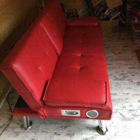 Bed settee with sound system