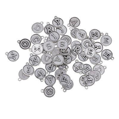 Großhandel 52 Stück Antikes Silber überzogene Alphabet A Z Brief Charms ()