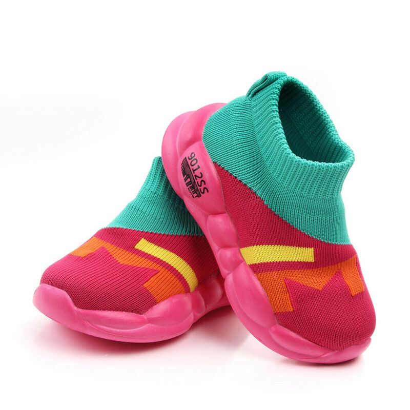 Toddler Girls Mesh Sole Knitted Sneakers