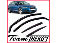 Brand New HEKO Wind Deflectors for Audi A3 8P 2004 - 2012 Sportback RS3 S3 5 doors