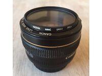 Canon EF 50mm f/1.4 USM Lens (++PLUS HOYA FILTER) IMPECCABLE CONDITION