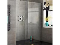 1400x250mm - 8mm - Premium EasyClean Wetroom Panel & Return Panel