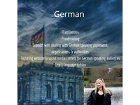 German/English translations & 1-2-1 language tuition by native German speaker