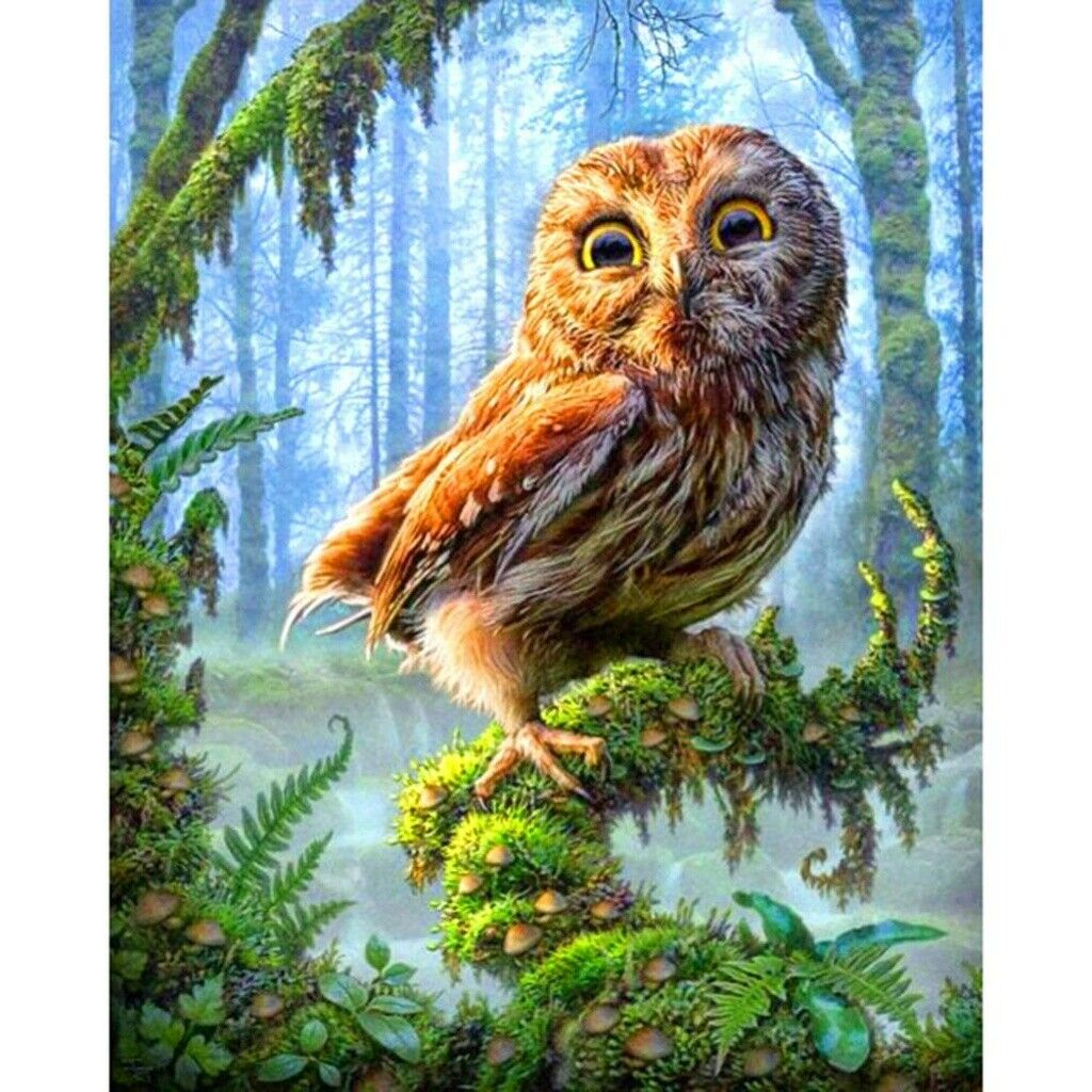 Diamond Painting 5D Full Drill Art Crafts Cross Stitch Owl In The Jungle Decor