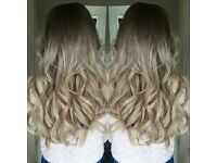 Hairdresser hair extensions great lengths specialist microweve bonds