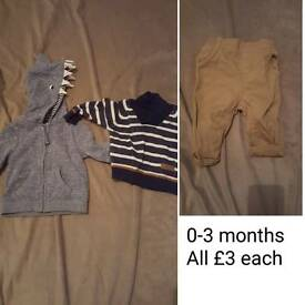 0-3months boys clothes