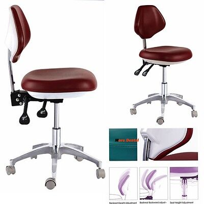 Dental Medical Dentists Stools Mobile Chair Movable Doctors Stools Pu Leather