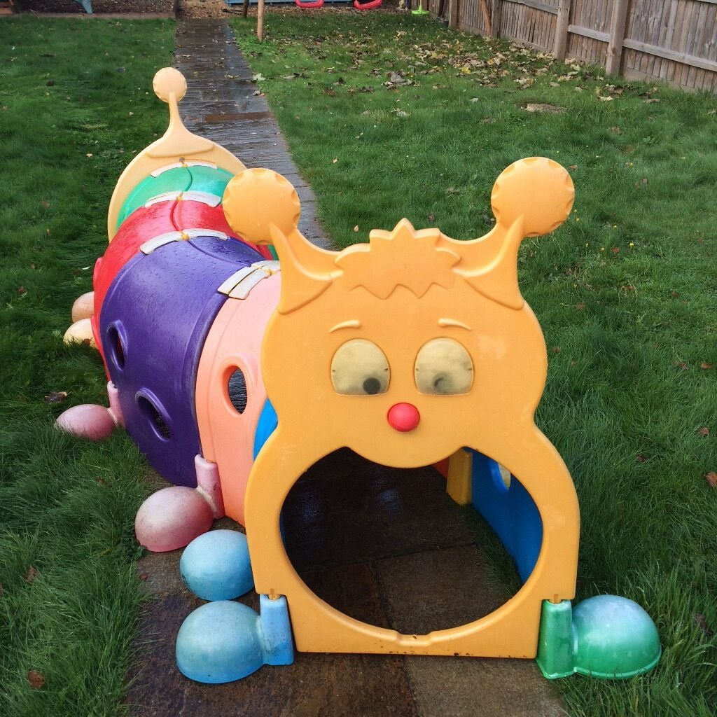 Outdoor Climbing Toys : Plastic outdoor play ground caterpillar tunnel and