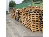 Miscellaneous sized pallets free to collect, must collect and take all.