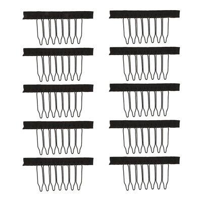 10x Perücke Kämme Perücke Clips für Haarteile Haarverlängerung Clips