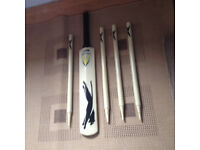 Junior boys quality kids cricket bat with stumps, only £20,immaculate, first to see buys