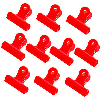 Bulldog Clips Clamps Lovely For Paper Files 10 Pcs 1.9 Inch 4 Fresh Color