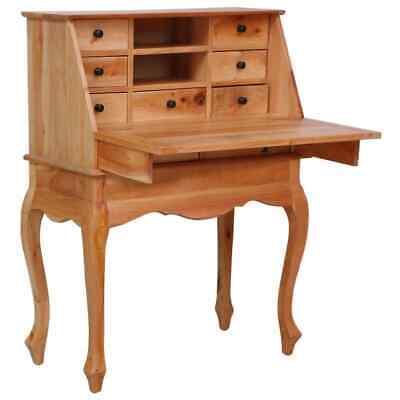 vidaXL Mahagoniholz Massiv Sekretär Schreibtisch Bürotisch Arbeitstisch Tisch