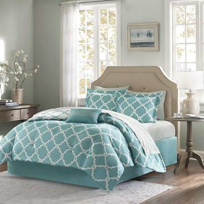 Turquoise 10 Piece Bed In a Bag Luxurious Comforter Set - SHEET SET INCLUDED (Luxury 10 Piece Bed)
