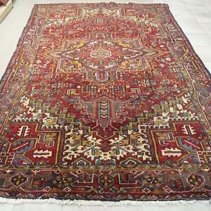 Heriz Persian Rug, Hand Made, Wool Rug (Free Shipping)