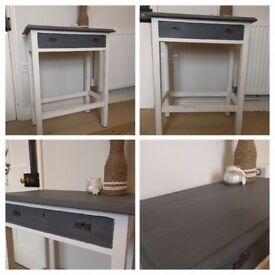 Hall Console Table Cream & Grey Chalk Paint Shabby Chic