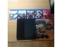 For sale Playstation 4 500GB inc all cables with 5 Games PS4 is in excellent condition