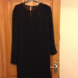 Next black sparkle dress size 12