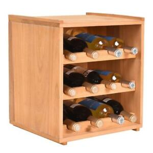 3 Tiers 12 Bottle Wood Wine Rack Storage Cabinet Display Shelves Kitchen Decor - BRAND NEW - FREE SHIPPING
