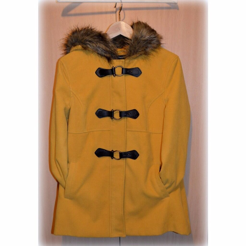 Ladies Mustard Duffle Coat For Sale Size 14 | in County Antrim ...