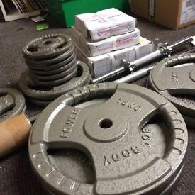 Body Power 100Kg 5FT Tri-Grip Combi Standard Weight Set
