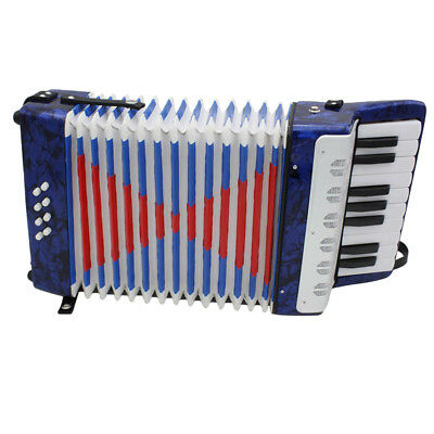 IRIN 17-Key 8 Bass Dark Blue Accordion for Beginner Music Lovers Practice