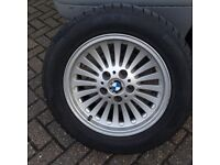 BMW E39 TURBINE ALLOY WHEELS 4 MATCHING PREMIUM PIRELLI SOTTOZERO WINTER TYRES TEDDINGTON