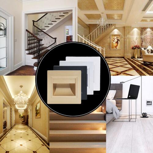 PIR Motion Sensor LED Stair Step Light Indoor Embedded Wall