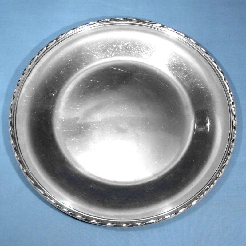 "TOWLE STERLING 11"" SANDWICH PLATE #54521 ~ SILVER FLUTES ~ NO MONO"